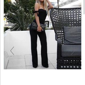 Pants - Black jumpsuit Hotmiamistyles